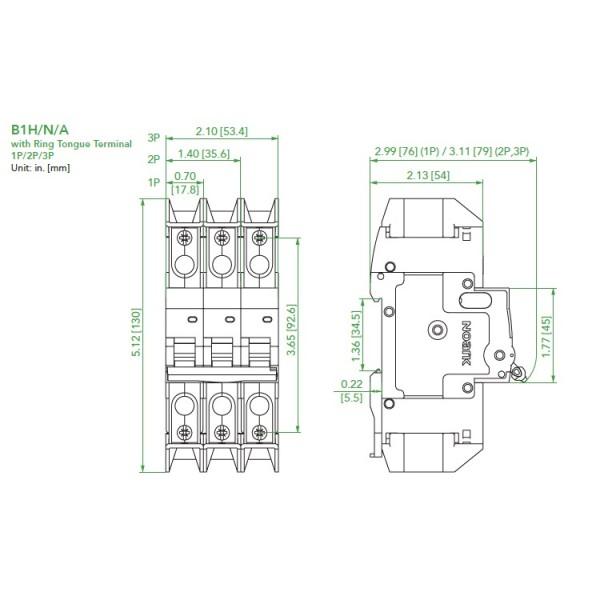 noark ul489 mini circuit breaker  b1h series  10 amp